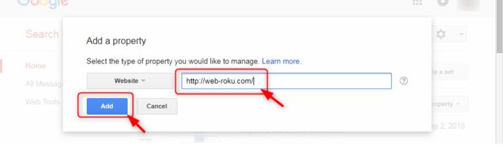 追加するURLを入力して「Add」をクリック